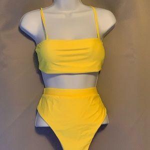 Yellow Tube Top Bikini